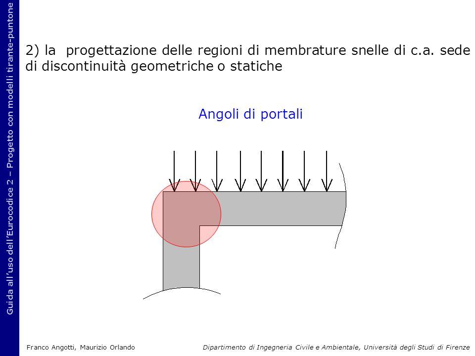 Guida all'uso dell'Eurocodice 2 – Progetto con modelli tirante-puntone 2) la progettazione delle regioni di membrature snelle di c.a. sede di disconti