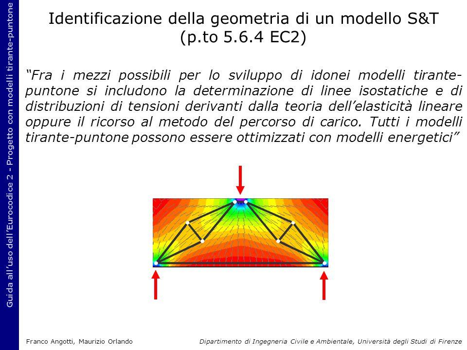 """Guida all'uso dell'Eurocodice 2 - Progetto con modelli tirante-puntone """"Fra i mezzi possibili per lo sviluppo di idonei modelli tirante- puntone si in"""