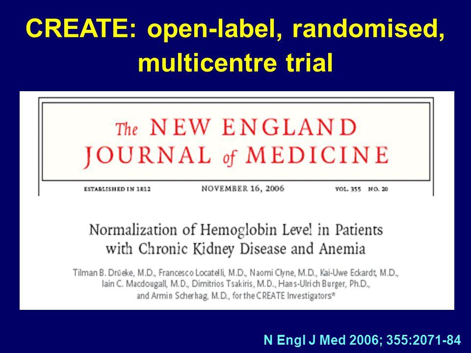 CREATE: open-label, randomised, multicentre trial N Engl J Med 2006; 355:2071-84