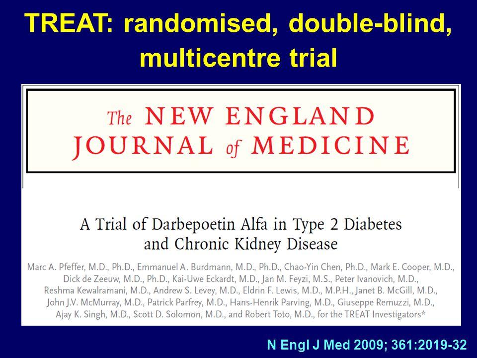 TREAT: randomised, double-blind, multicentre trial N Engl J Med 2009; 361:2019-32