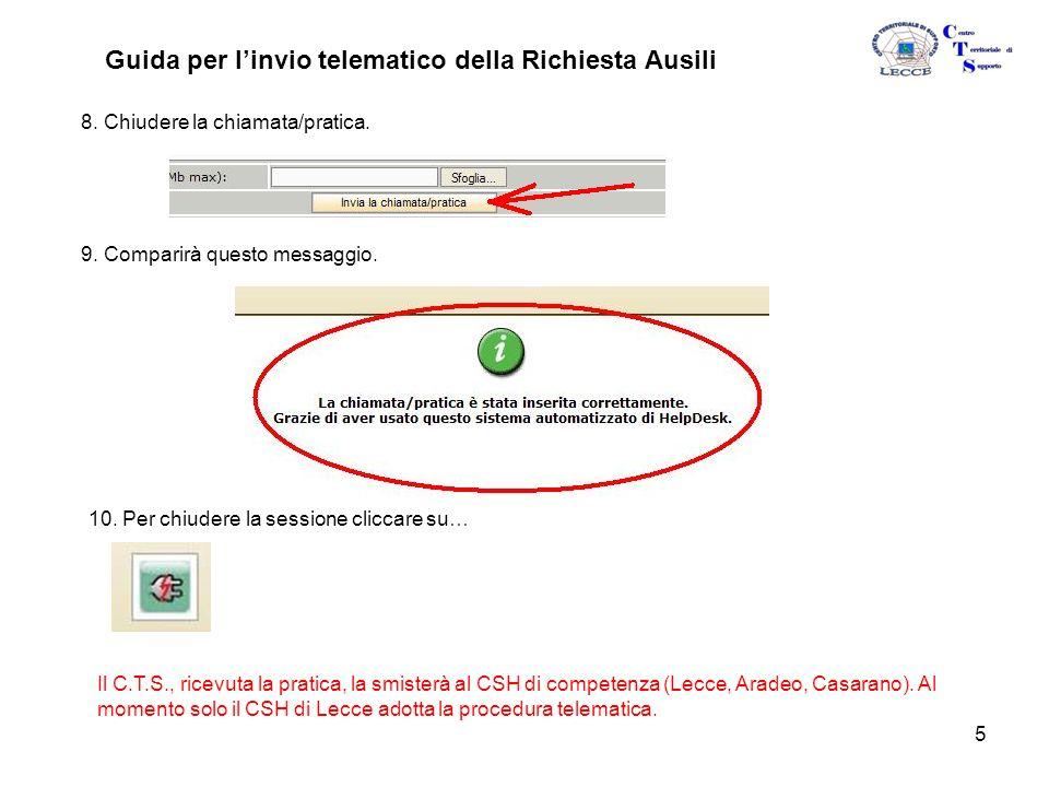 5 Guida per l'invio telematico della Richiesta Ausili 8.