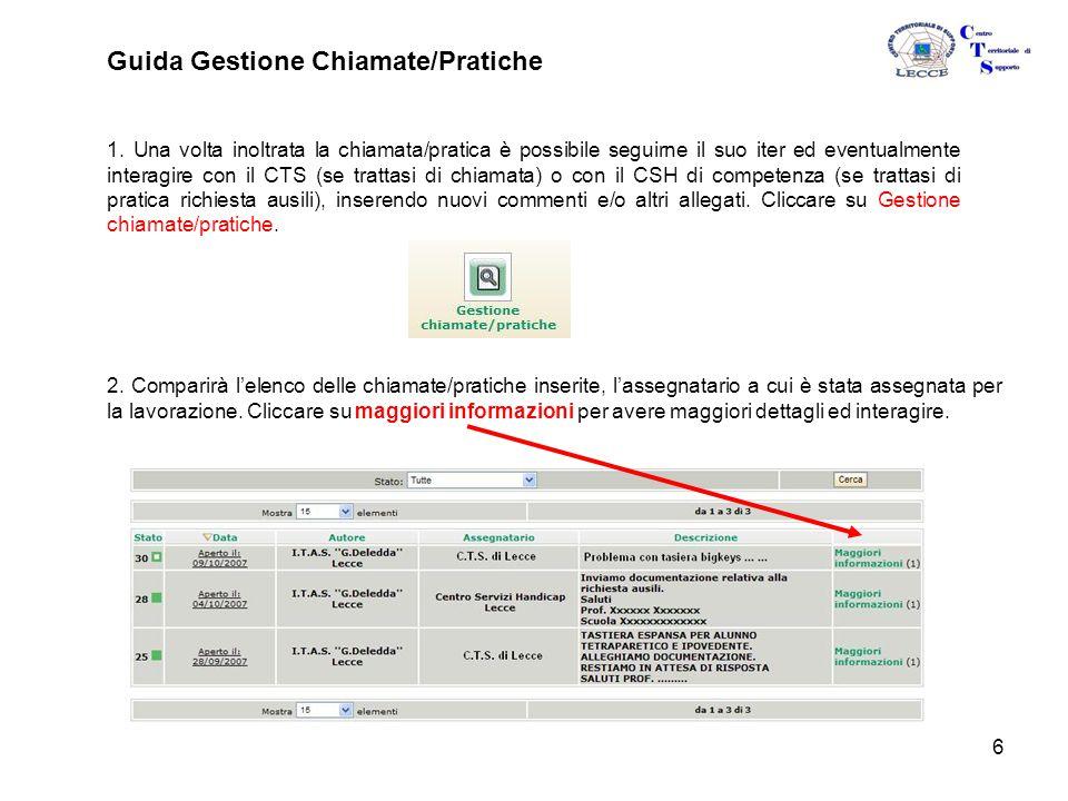 6 Guida Gestione Chiamate/Pratiche 1.