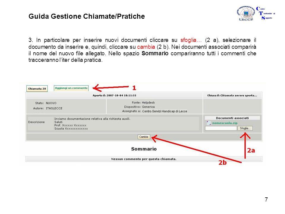 7 Guida Gestione Chiamate/Pratiche 3.