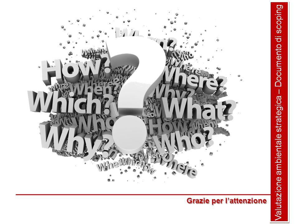 Valutazione ambientale strategica – Documento di scoping Grazie per l'attenzione