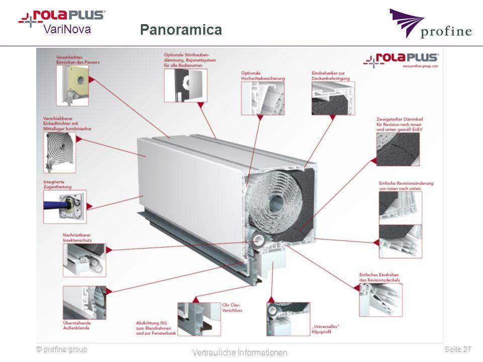 © profine group Vertrauliche Informationen Seite 27 Panoramica VariNova