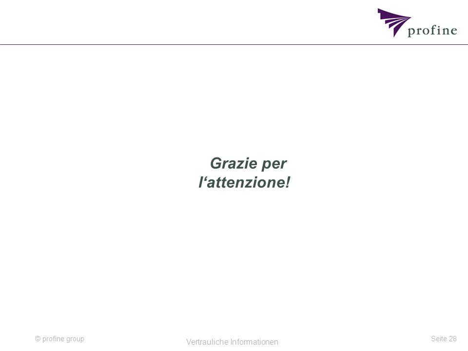 © profine group Vertrauliche Informationen Seite 28 Grazie per l'attenzione!