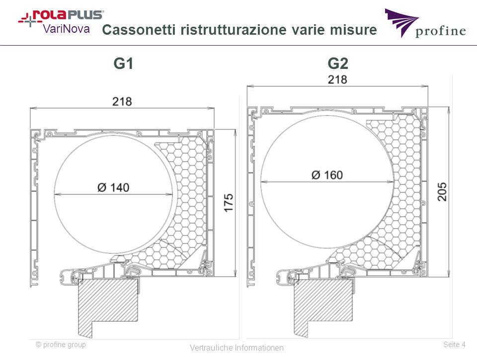 © profine group Vertrauliche Informationen Seite 4 G1 VariNova G2 Cassonetti ristrutturazione varie misure