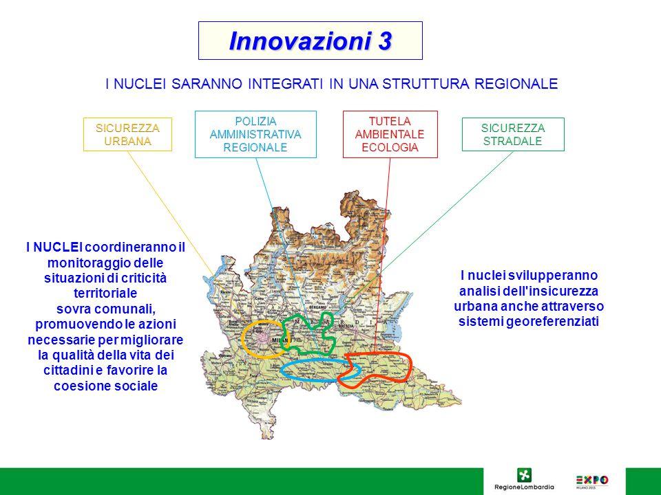 Innovazioni 3 I NUCLEI coordineranno il monitoraggio delle situazioni di criticità territoriale sovra comunali, promuovendo le azioni necessarie per m