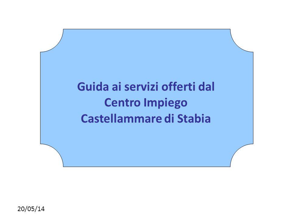 Fare clic per modificare lo stile del sottotitolo dello schema 20/05/14 Guida ai servizi offerti dal Centro Impiego Castellammare di Stabia