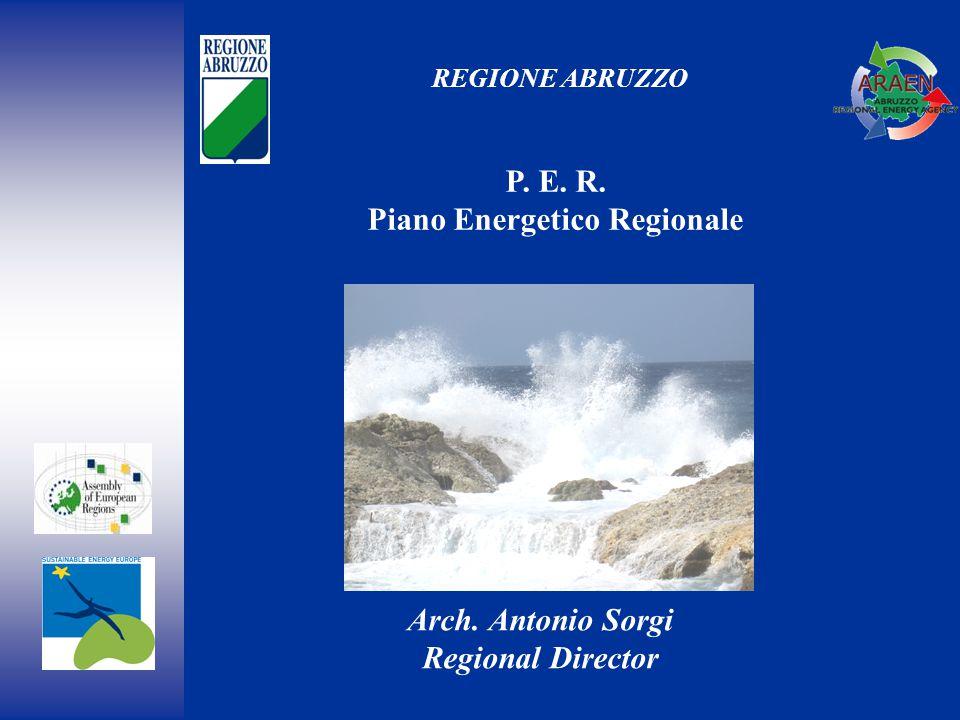 REGIONE ABRUZZO P. E. R. Piano Energetico Regionale Arch. Antonio Sorgi Regional Director