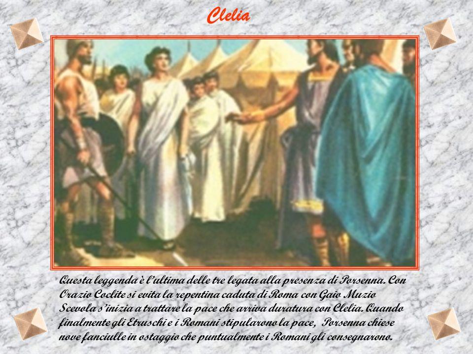 Ma fatalmente il Romano sbaglia tenda ed uccide un ufficiale. Catturato e condotto alla presenza del re etrusco. Gaio Muzio proclama la volontà degli