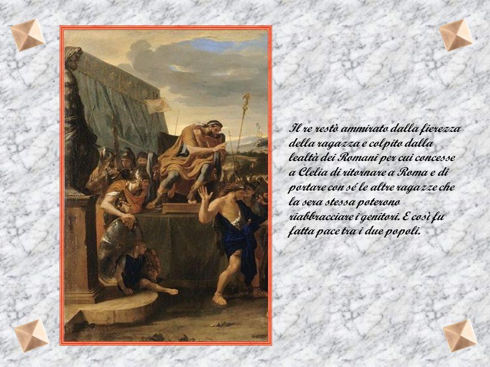 Ma le sentinelle romane le avvistarono e credendo che fossero dei nemici, diedero l'allarme. Arrestate e condotte davanti ai consoli furono rimandate