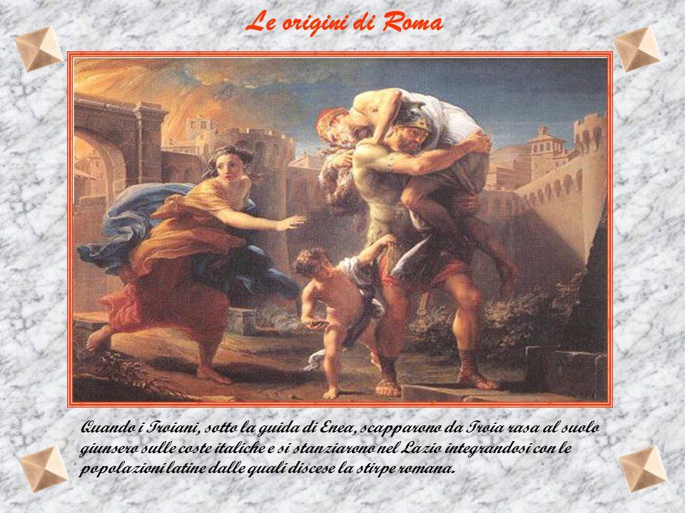Le origini di Roma Il ratto delle Sabine Gli Orazi e i Curiazi Orazio Coclite Muzio Scevola Clelia Le oche del Campidoglio Attilio Regolo