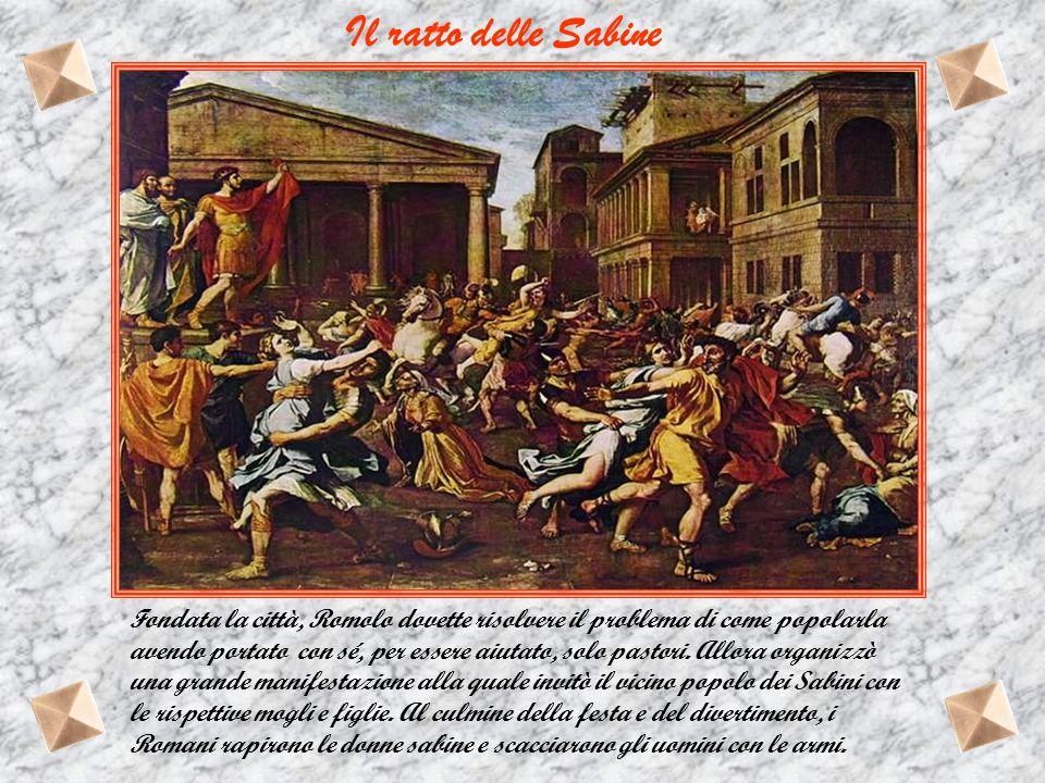 Divenuti grandi Romolo si accinge a fondare una nuova città e traccia un solco proibendo a Remo di oltrepassarlo; ma lui disobbedisce e litiga col fra