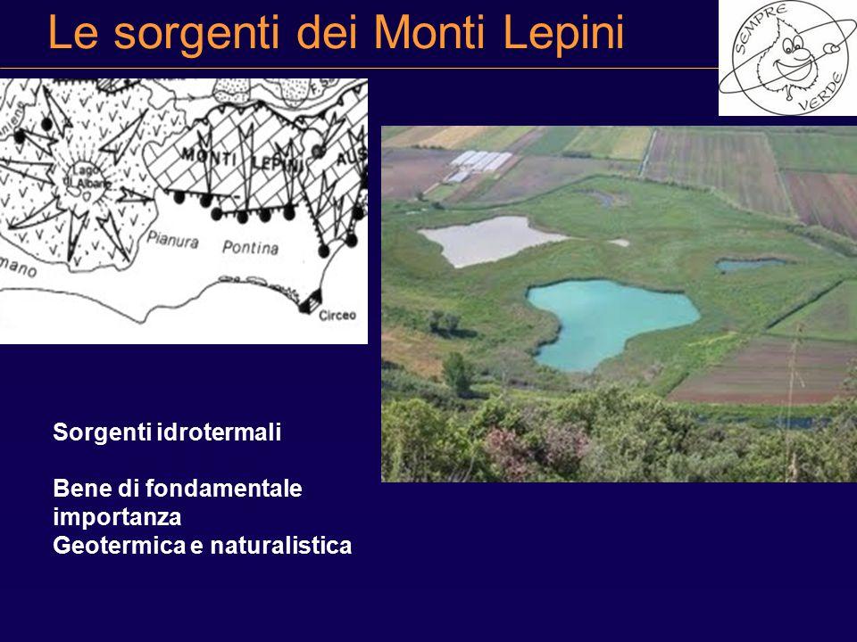 Le sorgenti dei Monti Lepini Sorgenti idrotermali Bene di fondamentale importanza Geotermica e naturalistica