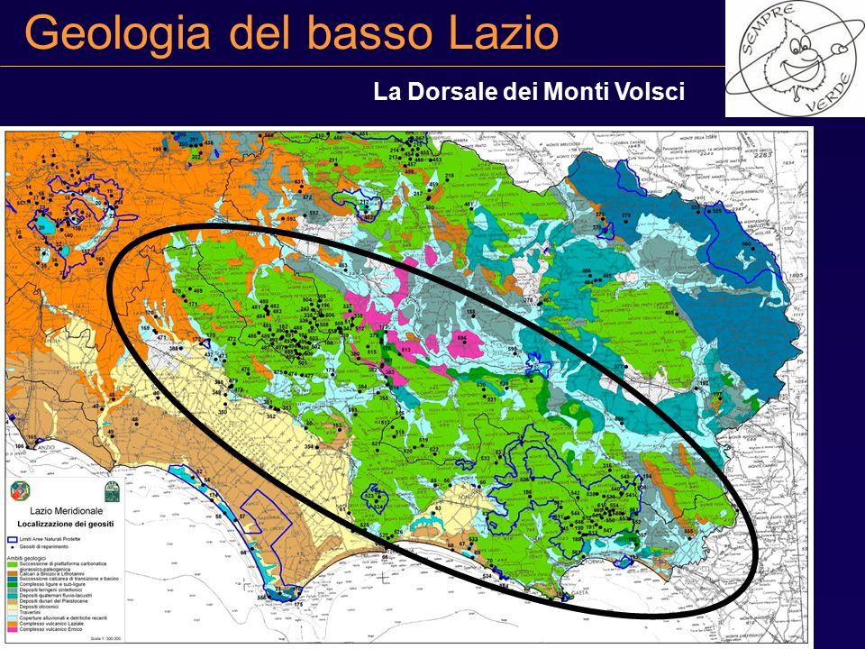 Geologia del basso Lazio La Dorsale dei Monti Volsci