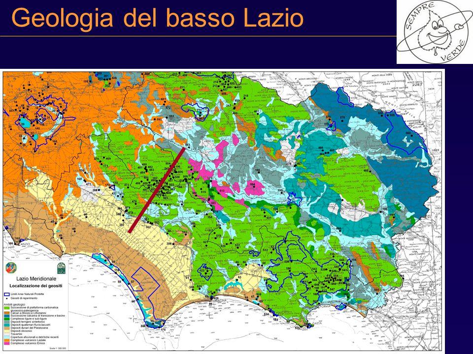 Geologia del basso Lazio
