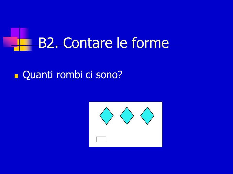 B2. Contare le forme Quanti rombi ci sono?