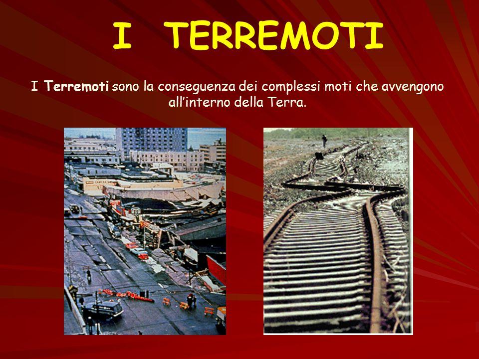 I TERREMOTI I Terremoti sono la conseguenza dei complessi moti che avvengono all'interno della Terra.