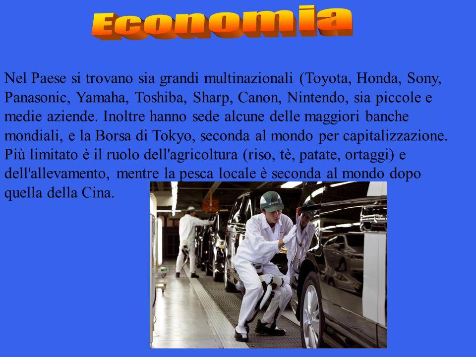 Nel Paese si trovano sia grandi multinazionali (Toyota, Honda, Sony, Panasonic, Yamaha, Toshiba, Sharp, Canon, Nintendo, sia piccole e medie aziende.