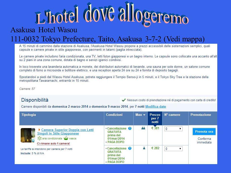 Asakusa Hotel Wasou 111-0032 Tokyo Prefecture, Taito, Asakusa 3-7-2 (Vedi mappa)