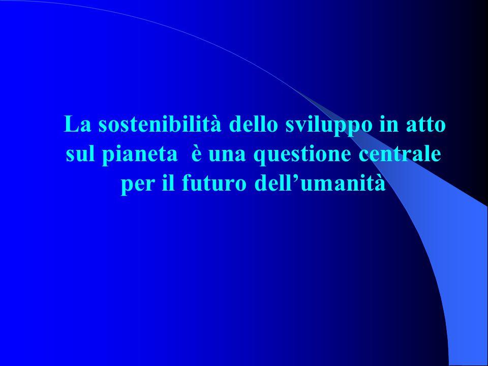La sostenibilità dello sviluppo in atto sul pianeta è una questione centrale per il futuro dell'umanità