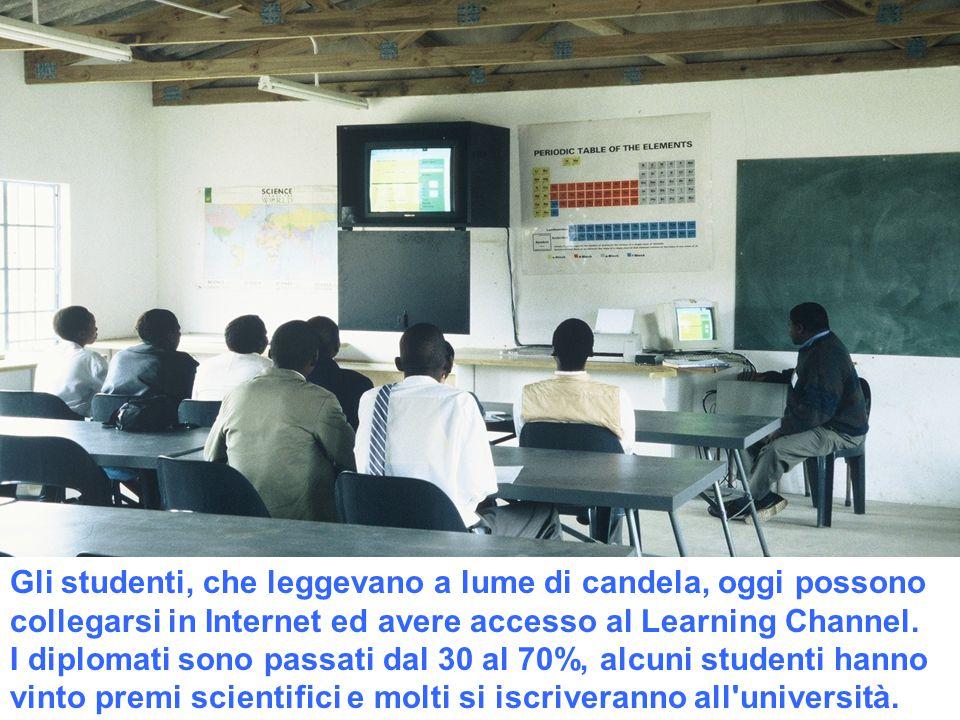 Gli studenti, che leggevano a lume di candela, oggi possono collegarsi in Internet ed avere accesso al Learning Channel. I diplomati sono passati dal