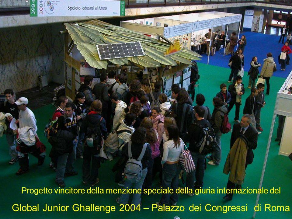 Progetto vincitore della menzione speciale della giuria internazionale del Global Junior Ghallenge 2004 – Palazzo dei Congressi di Roma
