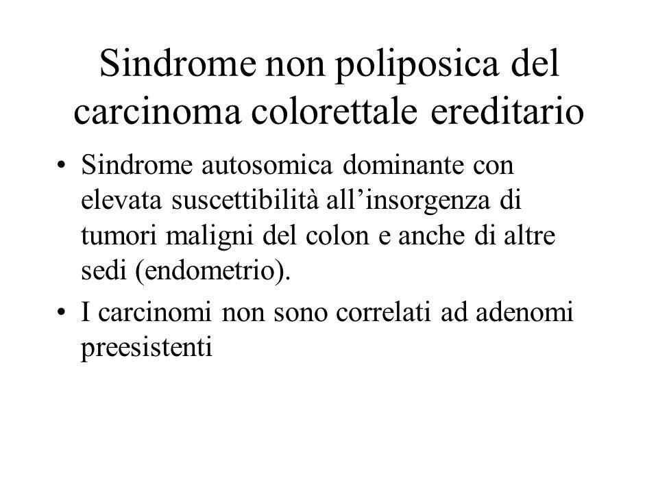 Sindrome non poliposica del carcinoma colorettale ereditario Sindrome autosomica dominante con elevata suscettibilità all'insorgenza di tumori maligni