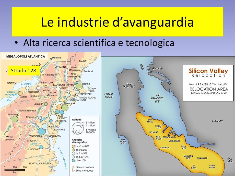 Le industrie d'avanguardia Alta ricerca scientifica e tecnologica Strada 128
