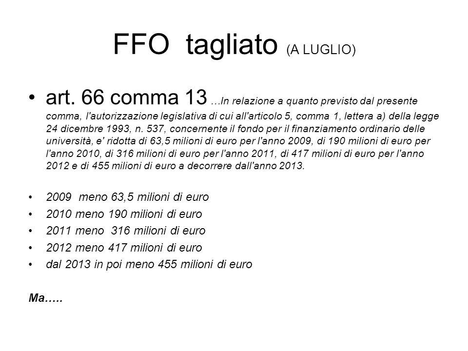 FFO tagliato (A LUGLIO) art.