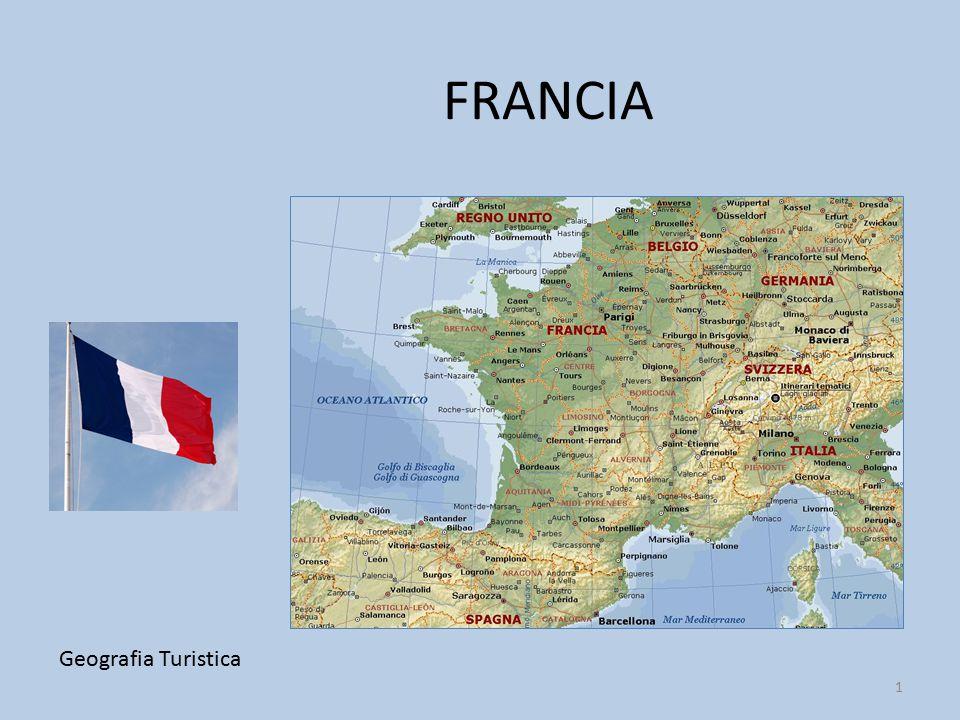 IL TERRITORIO DELLA FRANCIA Geografia Turistica 2 La Francia ha la forma di un esagono ed è il territorio più vasto dell'Europa occidentale.