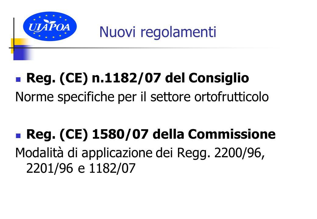 Principi generali della riforma Si conferma l'impostazione e validità dell'OCM fresco (O.P.