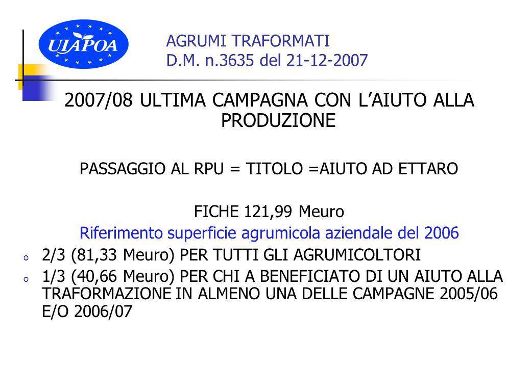 AGRUMI TRAFORMATI D.M.
