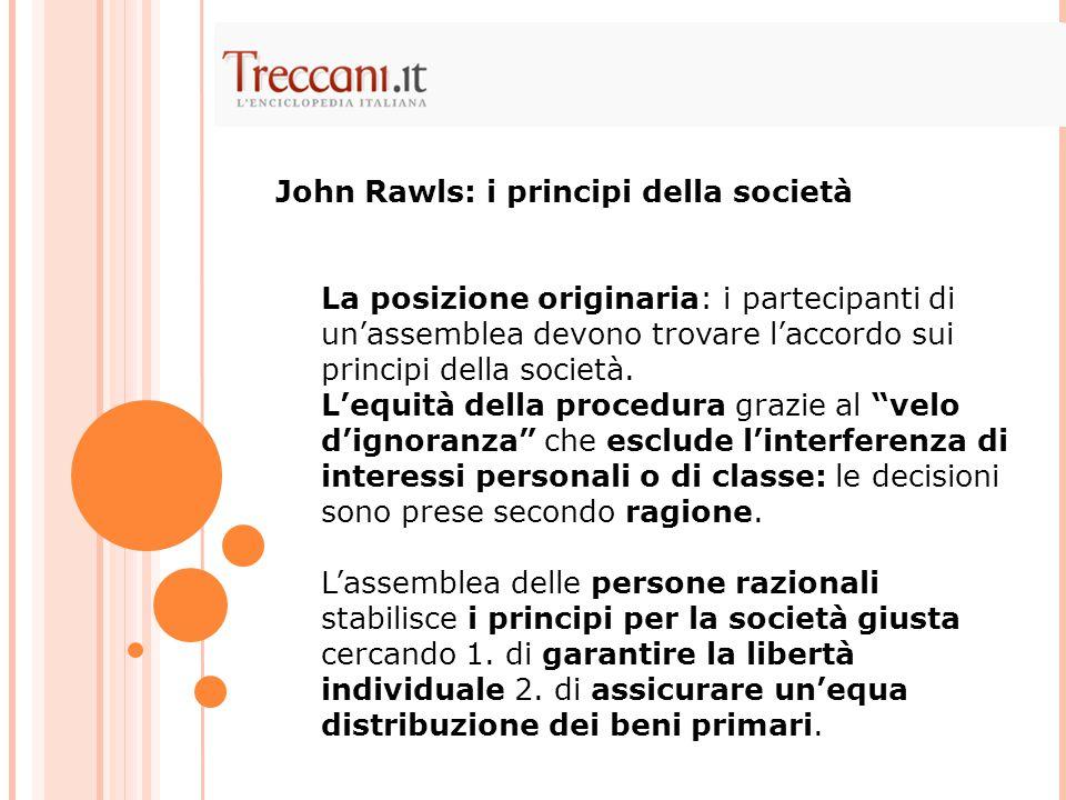 """La posizione originaria: i partecipanti di un'assemblea devono trovare l'accordo sui principi della società. L'equità della procedura grazie al """"velo"""