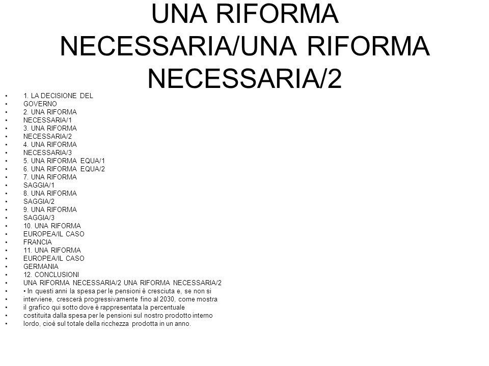 UNA RIFORMA NECESSARIA/UNA RIFORMA NECESSARIA/2 1.