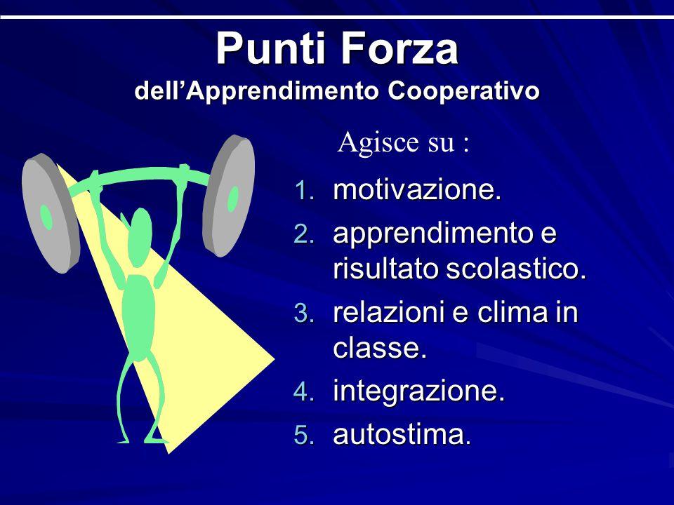Punti Forza dell'Apprendimento Cooperativo 1.motivazione.