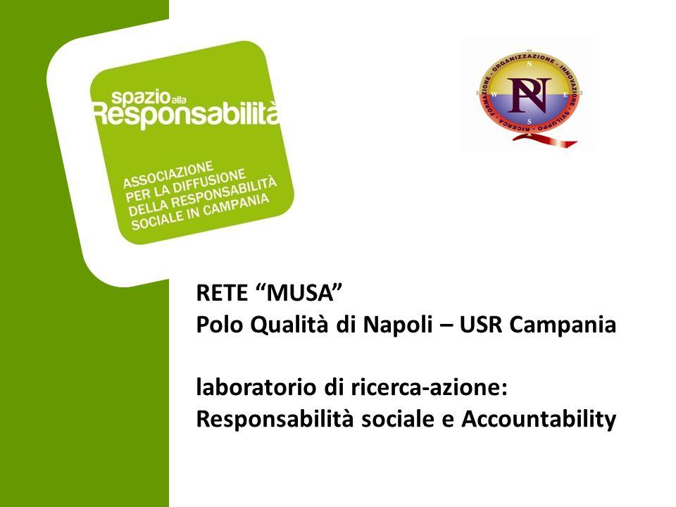 """RETE """"MUSA"""" Polo Qualità di Napoli – USR Campania laboratorio di ricerca-azione: Responsabilità sociale e Accountability"""