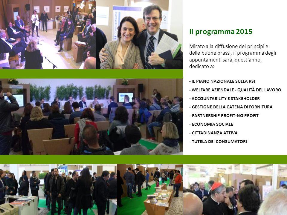 Il programma 2015 Mirato alla diffusione dei principi e delle buone prassi, il programma degli appuntamenti sarà, quest'anno, dedicato a: - IL PIANO N