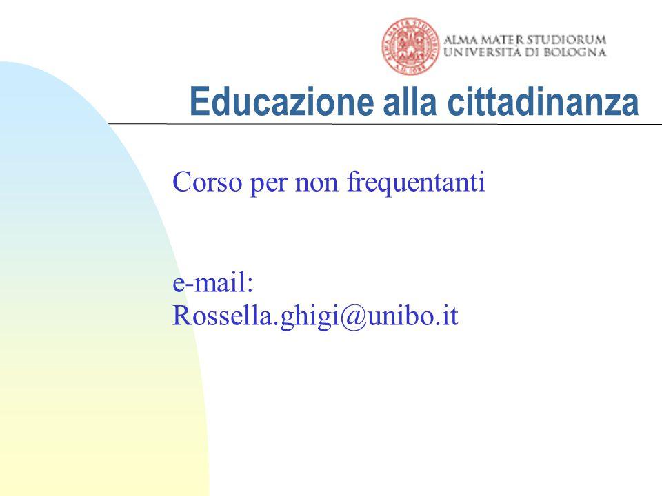 Educare alla cittadinanza Carta europea della partecipazione dei giovani: 4.