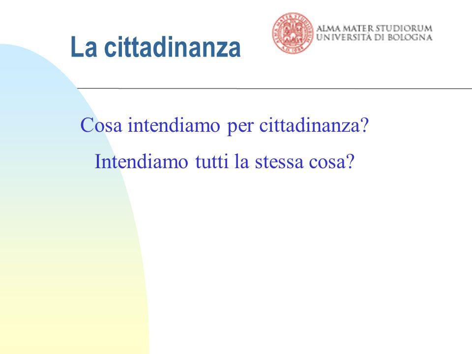 La cittadinanza: storia del concetto La cittadinanza, dunque, nasce con riferimento allo Stato nazionale moderno.