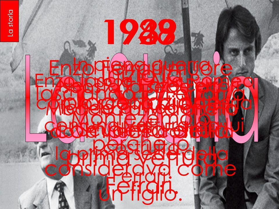 1929 Nel 1929 Enzo Ferrari fonda a Modena la Scuderia Ferrari 1939 Enzo lascia l'Alfa Romeo con lo scopo di batterla con una vettura da lui costruita.