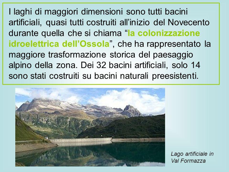 """I laghi di maggiori dimensioni sono tutti bacini artificiali, quasi tutti costruiti all'inizio del Novecento durante quella che si chiama """"la colonizz"""