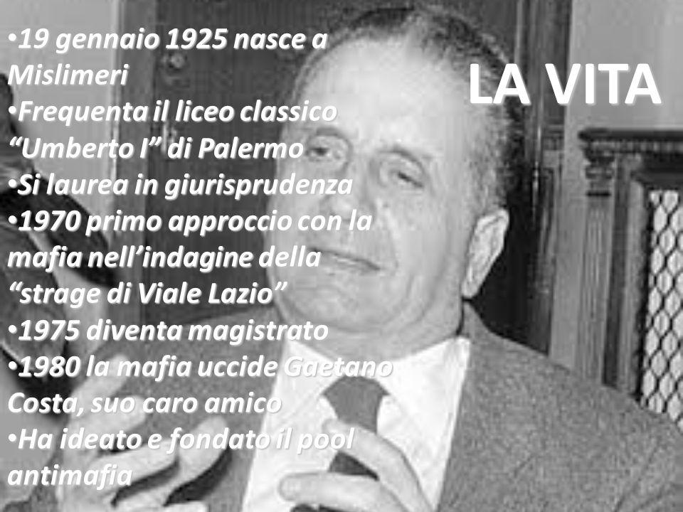 """19 gennaio 1925 nasce a Mislimeri 19 gennaio 1925 nasce a Mislimeri Frequenta il liceo classico """"Umberto I"""" di Palermo Frequenta il liceo classico """"Um"""