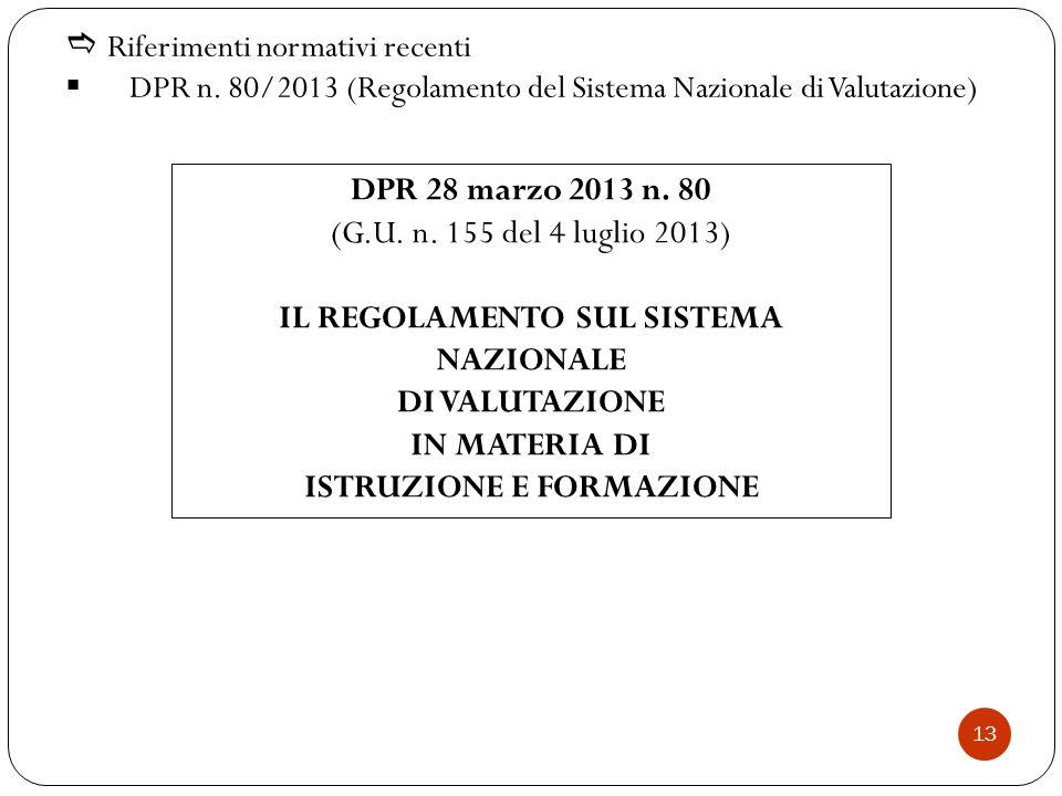  Riferimenti normativi recenti  DPR n.