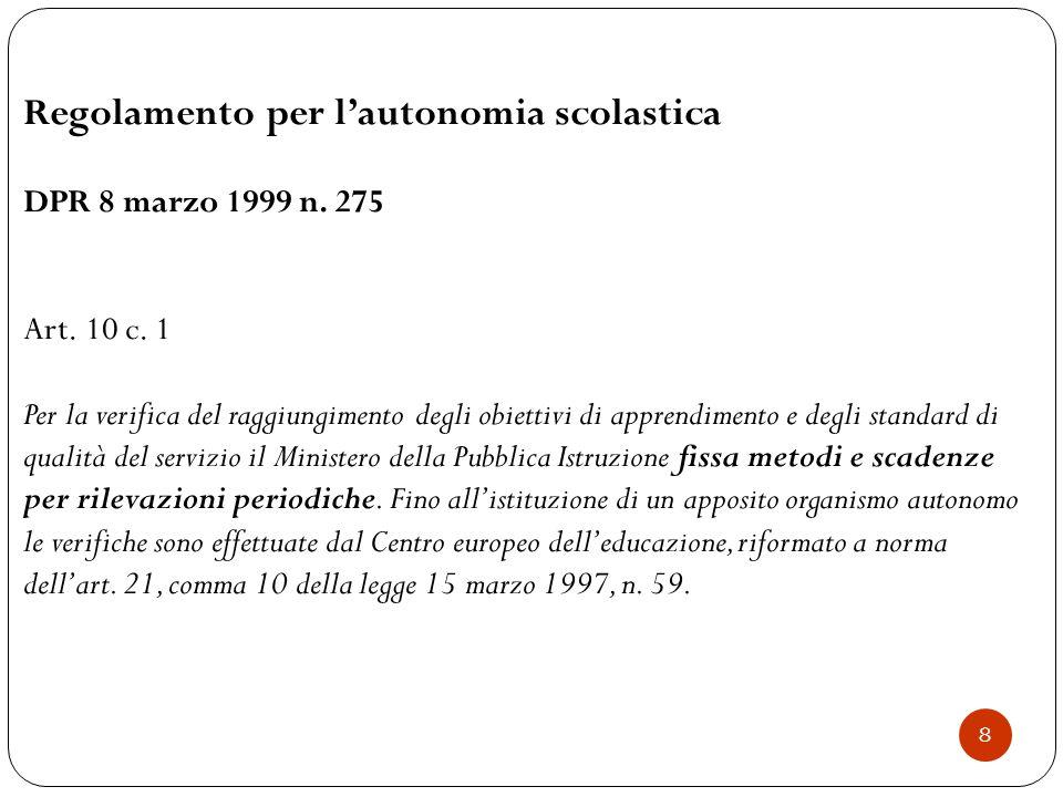  Indicazioni Nazionali per il primo ciclo (testo 2012)  Profilo dello studente  Organizzazione del curricolo (continuità e verticalità)  Valutazione – autovalutazione c 9