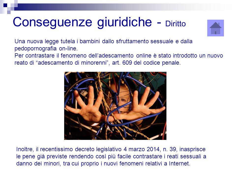Una nuova legge tutela i bambini dallo sfruttamento sessuale e dalla pedopornografia on-line. Per contrastare il fenomeno dell'adescamento online è st