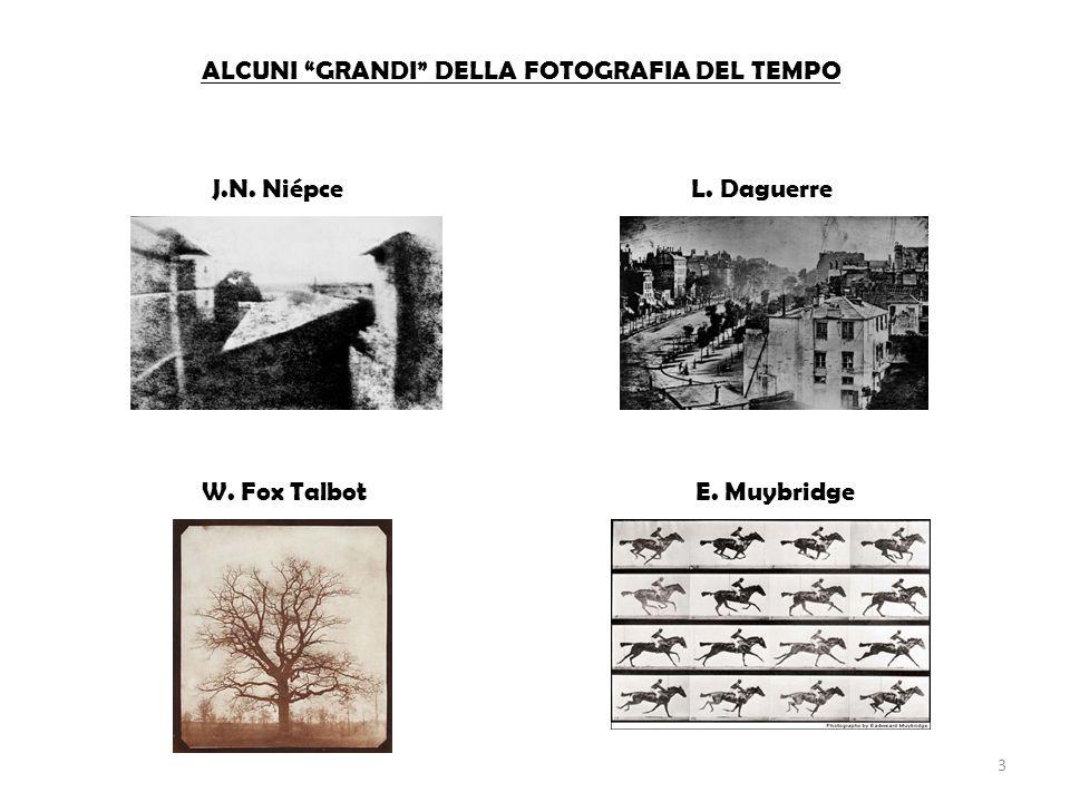 ALCUNI GRANDI DELLA FOTOGRAFIA DEL TEMPO J.N. NiépceL. Daguerre W. Fox TalbotE. Muybridge 3