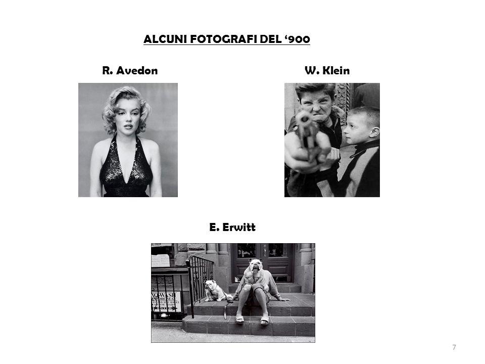 ALCUNI FOTOGRAFI DEL '900 R. Avedon E. Erwitt W. Klein 7