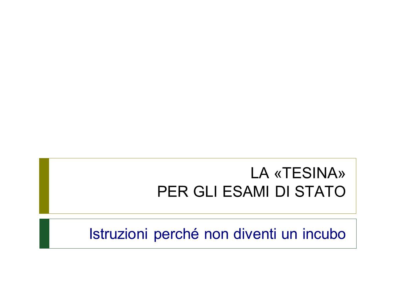 DPR 323/1998 Regolamento sul nuovo Esame di Stato  Art.